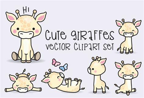 kawaii clipart premium vector clipart kawaii giraffes giraffes