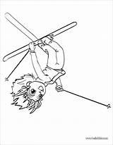 Acrobat Coloring Ski Coloringbay sketch template
