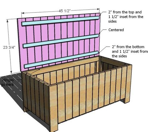 wood garden storage box plans woodworking projects plans