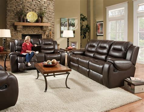 Loveseat Console by Corinthian Jamestown Umber Reclining Sofa And Loveseat