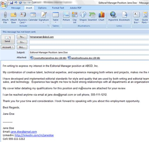 Email Resume by 6 Easy Steps For Emailing A Resume And Cover Letter