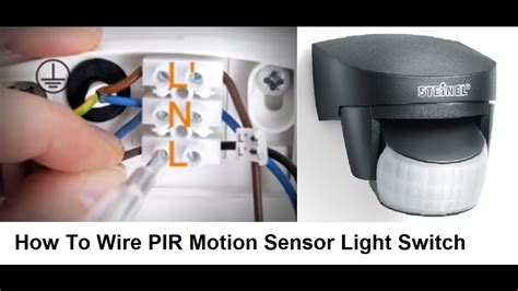 wire pir motion sensor light switch youtube