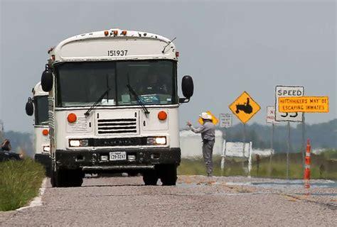 inmates riot  texas flooding  forces evacuation