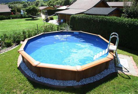 Runder Pool Im Garten by Stahlwandbecken Verkleiden Search Garden Pool