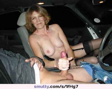 Car Sex Is Great Hotwife Mature Milf Handjob