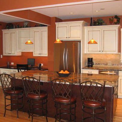 orange kitchens with white cabinets burnt orange paint w white cabinets paint colors 7208