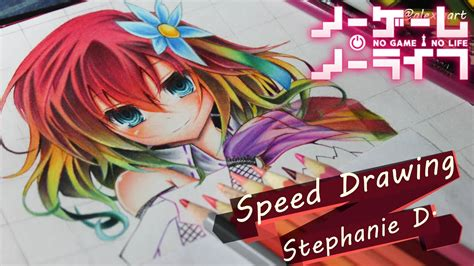 Speed Drawing Stephanie No Game No Life YouTube