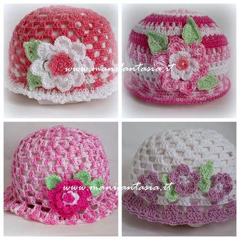fiori di cotone all uncinetto cappellini uncinetto bimba schema e spegazioni manifantasia