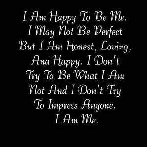 Daily Quotes: I Am Happy To Be Me ~ Mactoons Inspirational ...