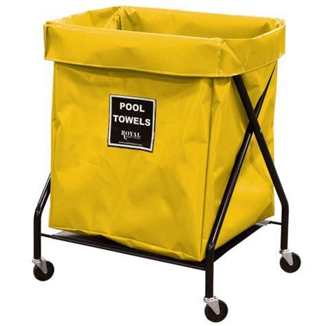 Royal Basket 8 Bushel Vinyl Pool Towel X Frame Cart