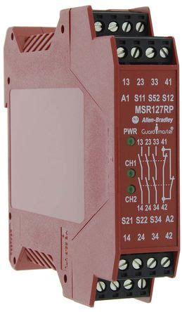 safety relay quotes 440r n23135 minotaur msr127rp safety relay single channel 24 v ac dc 3 safety 1 auxiliary