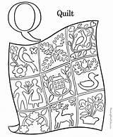 Coloring Alphabet Quilt Pre Preschool Letters sketch template