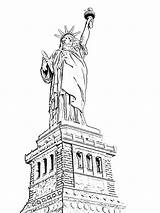 Liberty Statue Coloring Amazing Drawing Cartoon Pages York Cliparts Clipart Colouring Drawings Library Clip Getdrawings Colornimbus sketch template