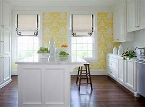 Papier peint cuisine une idee fraiche et creative for Kitchen colors with white cabinets with papier peint décoration murale