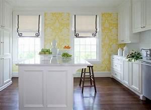 papier peint cuisine une idee fraiche et creative With kitchen colors with white cabinets with arte papiers peints