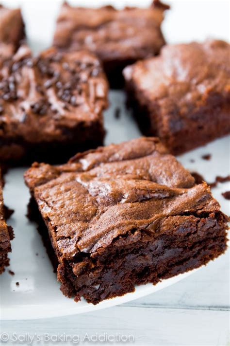 Pumpkin Cake Mix Brownies by Chewy Fudgy Homemade Brownies Sallys Baking Addiction
