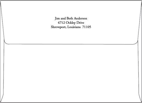 a7 envelope template return address printing a7 envelope routh studios llc