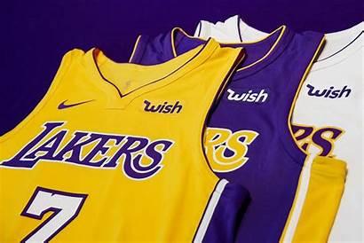 Lakers Wish Angeles Sponsor Maglia Nba Accordo