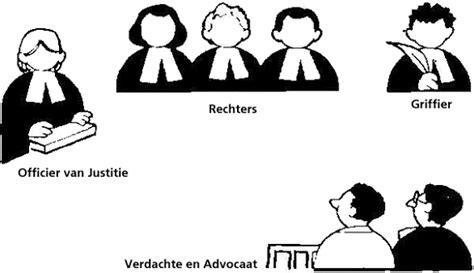 de rechtbank rechters en advocaten