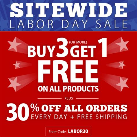 2014 labor day sale buy 3 get 1 free plus 30