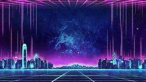 Synth, City, Wallpapers