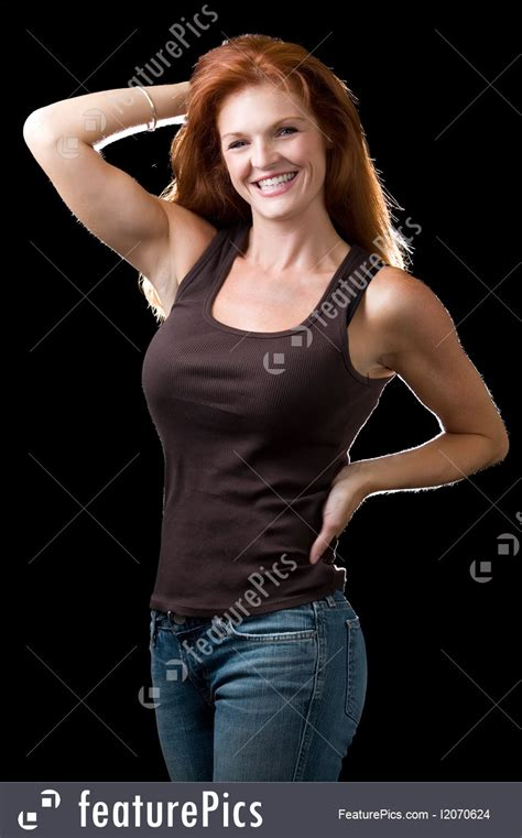 people beautiful red head stock image   featurepics
