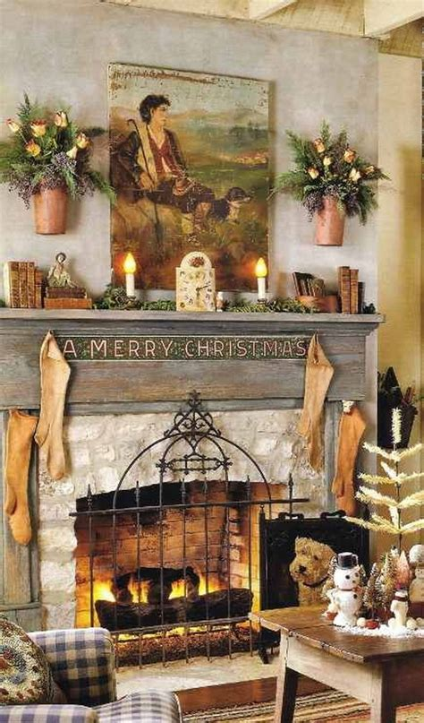 country mantel decorating ideas gorgeous fireplace mantel christmas decoration ideas family holiday net guide to family