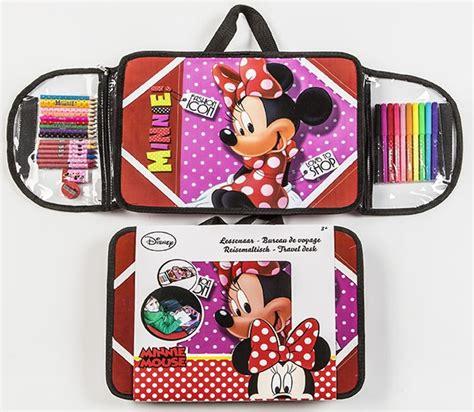 bureau de voyage mon pupitre portable minnie avec accessoires coloriage disney