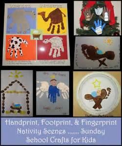 handprint nativity scenes footprint manger crafts fingerprint baby jesus more sunday school