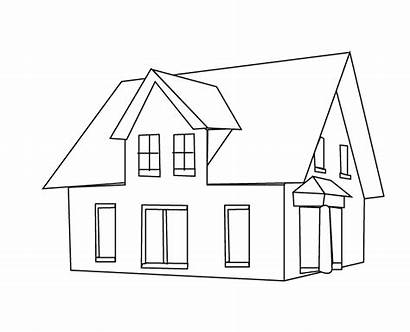 Coloring Pages Houses Modern בית Printable פשוט