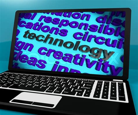 Technology Word On Laptop Meaning Software And Hi Tech  Stock Photo Colourbox