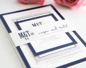 navy wedding invitations modern wedding invitations in navy blue and gray wedding invitations