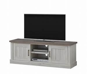 Meuble Cache Tv : meuble tv contemporain ch ne clair brun milena meubles ~ Premium-room.com Idées de Décoration