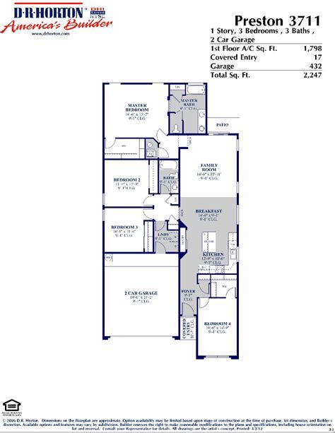 dr horton preston floor plan