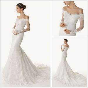 china wedding dress wedding gown evening dress supplier With lace off the shoulder wedding dress