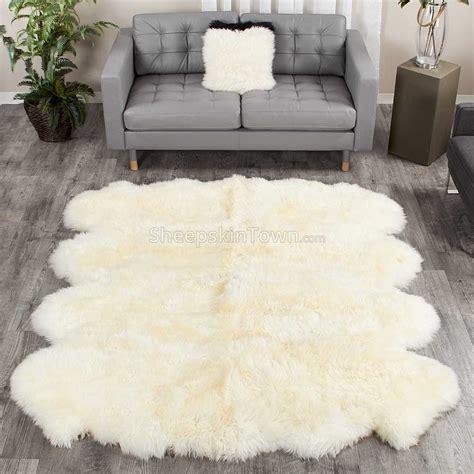 sheep skin rug ivory white large sheepskin rug octo 7x6 ft