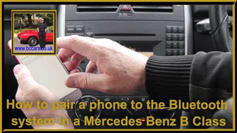 Turn on the bluetooth on your mobile device. How to pair a phone to the Bluetooth system in a Mercedes Benz B Class - YouTube