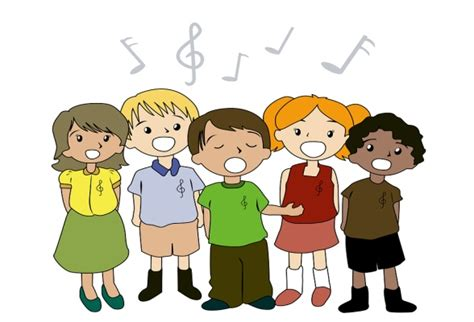 Image result for characture of students singing