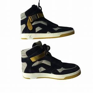Sneakers Louis Vuitton Homme : baskets homme louis vuitton sneakers daim bleu ~ Nature-et-papiers.com Idées de Décoration