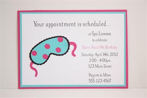 spa party invitations  easy     start