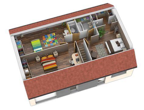 appartement 2 chambres lyon plan maison bois modèle nativio plates rouges natilia