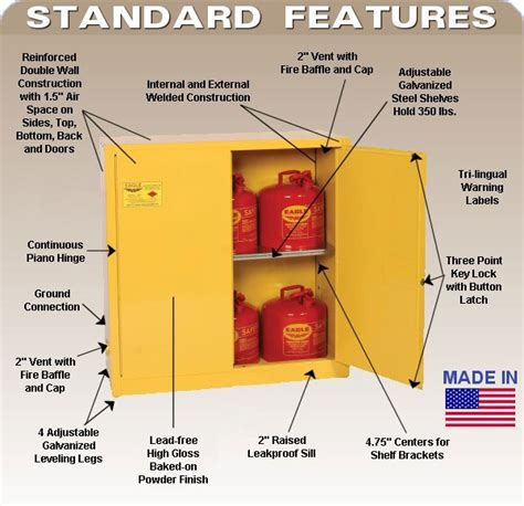 flammable storage cabinet requirements nfpa flammable storage cabinets regulations ppi blog