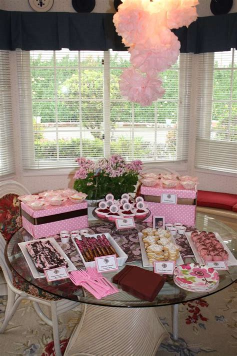 pink brown baptism party ideas photo    catch