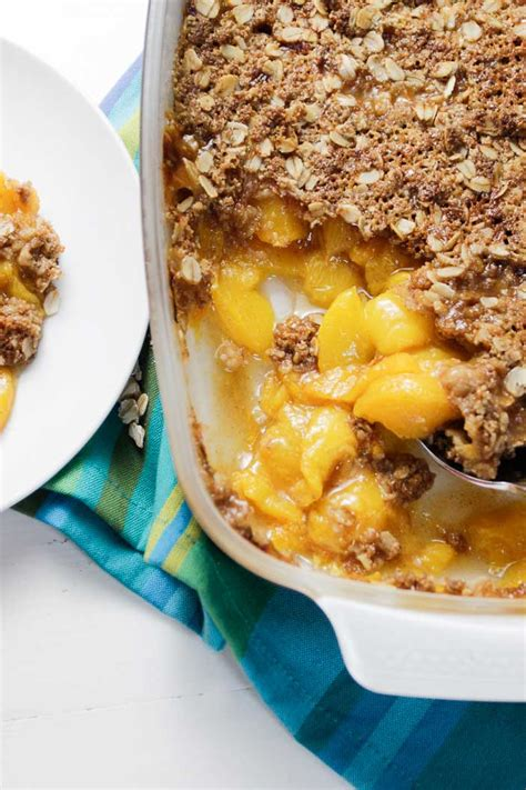 Easy Peach Crisp With Oats Plant Based Cooking