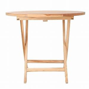 Tisch Rund 90 Cm : ploss eco teak tisch lexington rund 90 cm klappbar ~ Indierocktalk.com Haus und Dekorationen