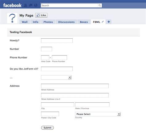 facebook registration form how to create facebook forms the jotform blog