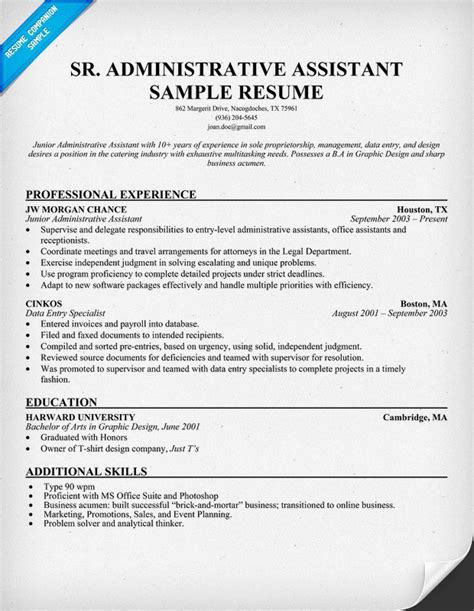administrative assistant resume senior administrative assistant resume stress kills