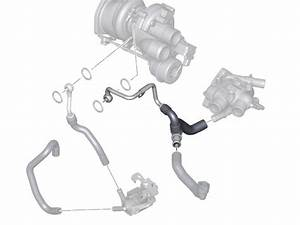 Mini Cooper  S  Oem Hose Turbo To Thermostat To Exp