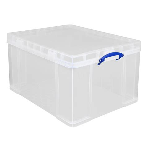 Really Useful Clear 84L Plastic Storage box   Departments