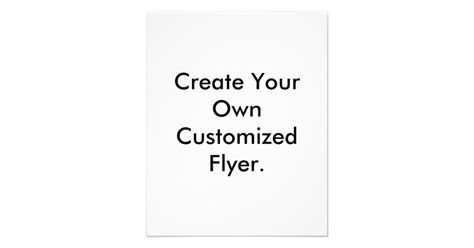 Create Your Own by Create Your Own Customized Flyer Flyer Zazzle